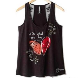 Desigual Black Tank Top Shirt Size S